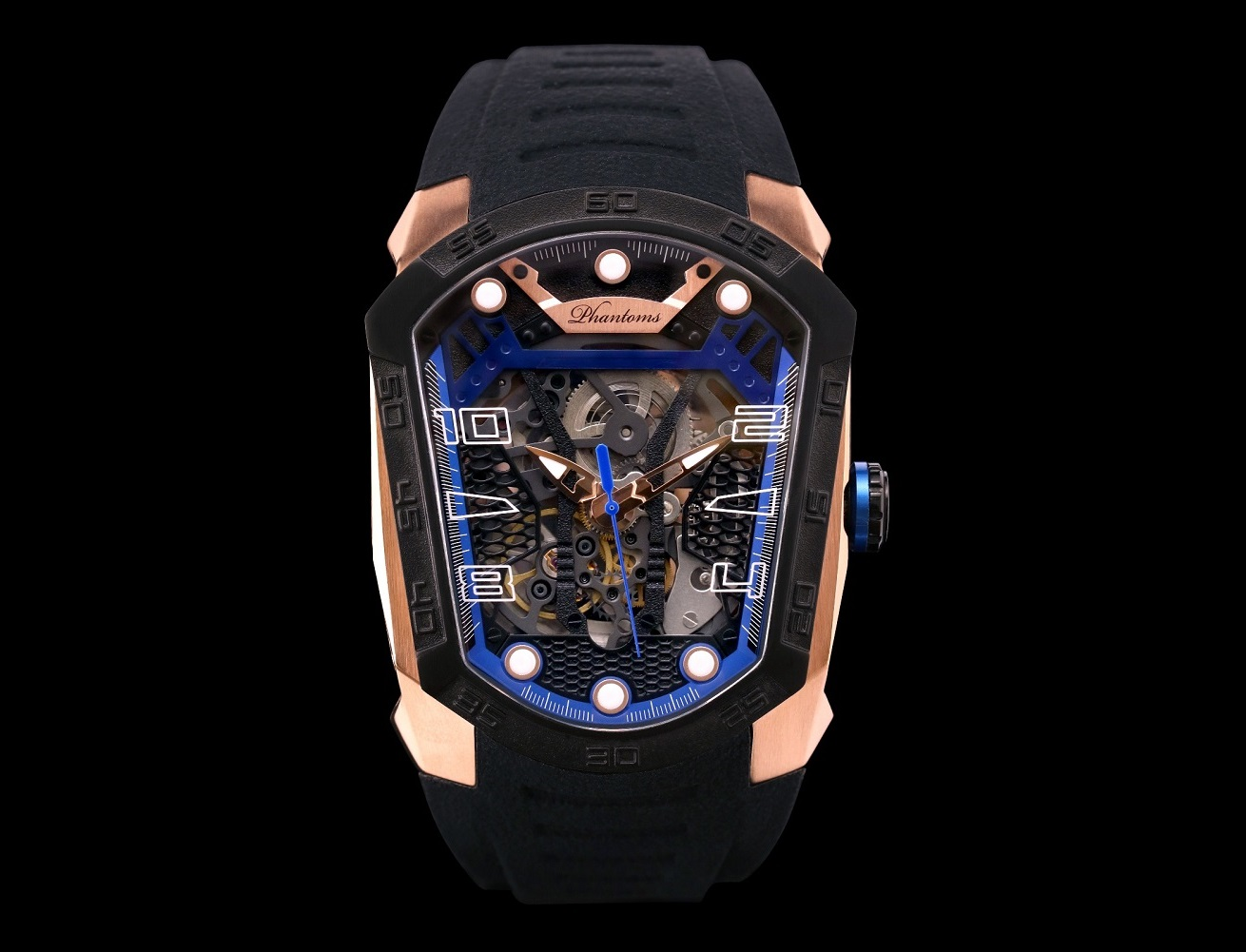 Phantoms Royal Blade World's First Futuristic Skeleton Automatic Mechanical Watch
