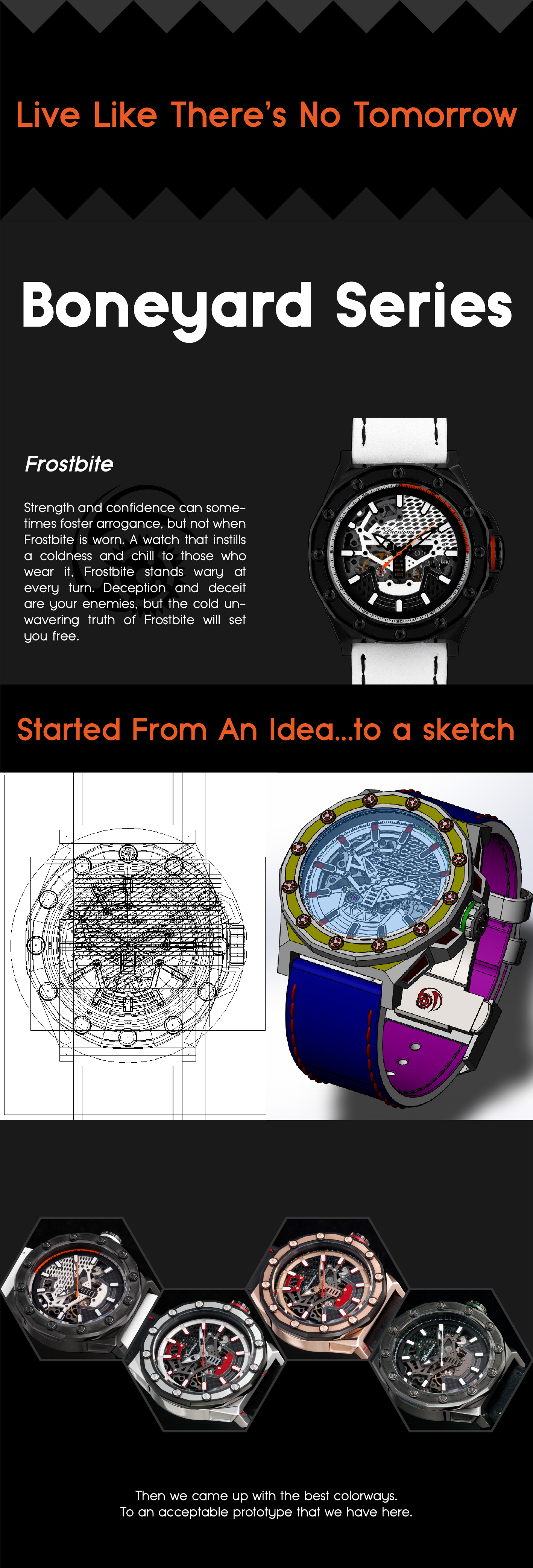 frostbite kickstarter campaign boneyard phantoms mechanical skeleton watch