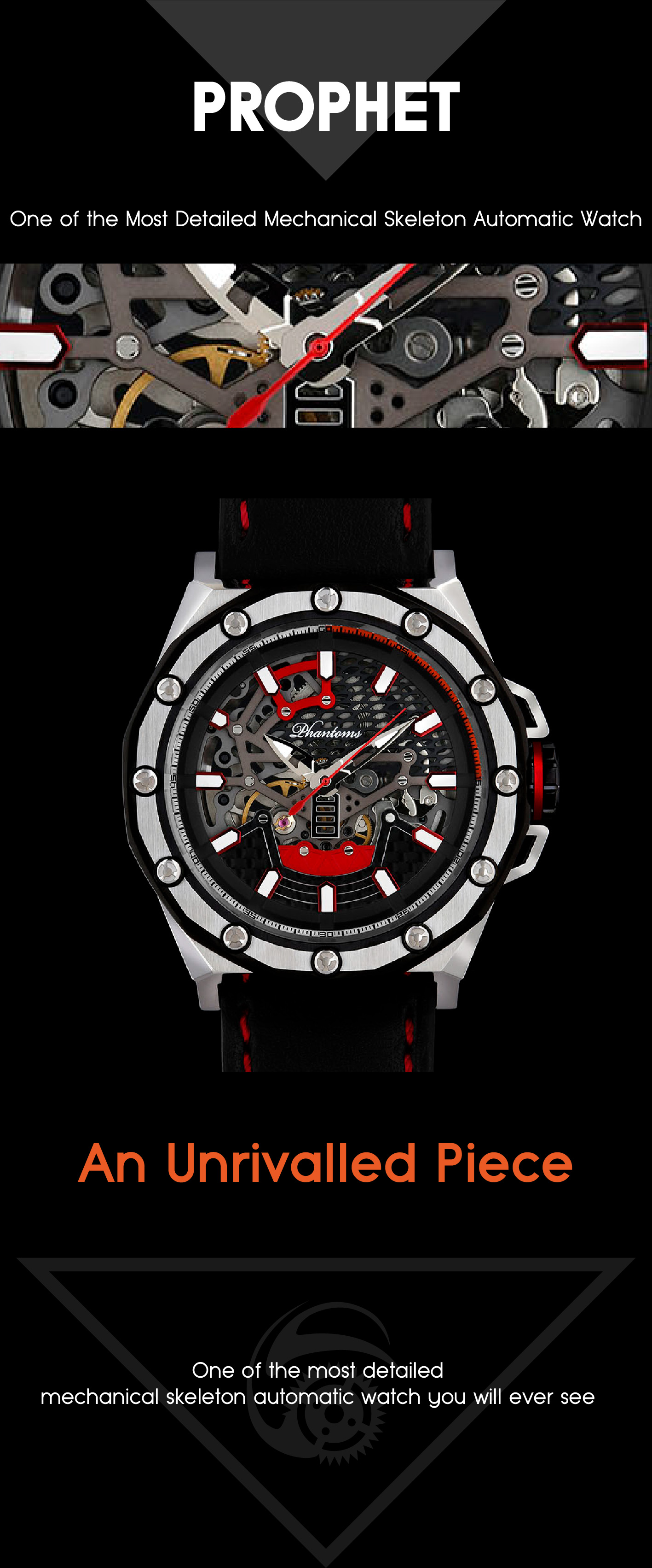 PHTW502-01 phantoms prophet boneyard automatic skeleton watch