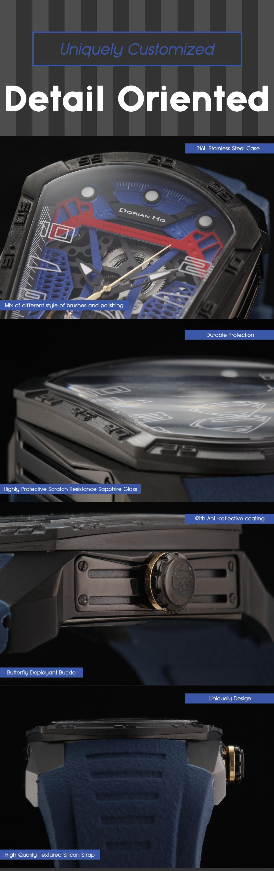 superman justice league dorian ho collection phantoms collaboration super hero automatic mechanical watch