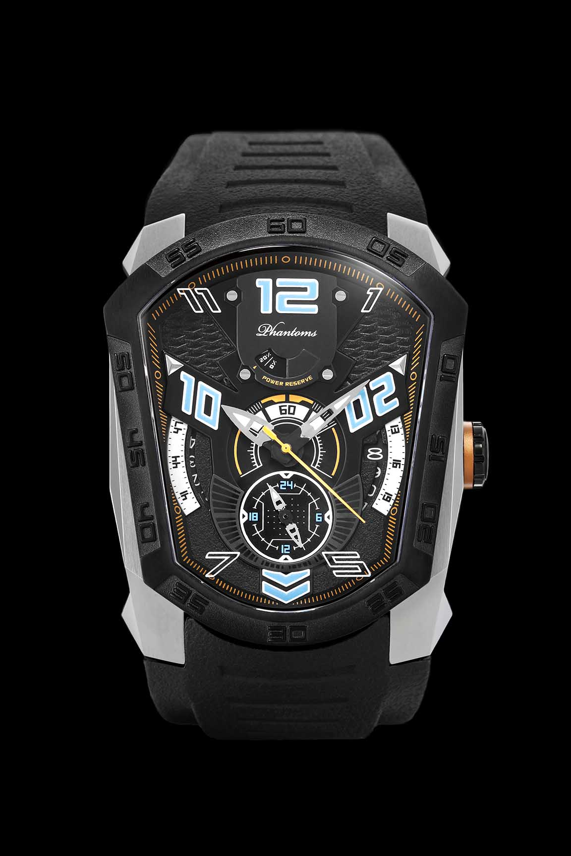 Spearic Laser Series Japanese Miyota Automatic Watch, Phantoms Watch Tourbillon, Sporty Mechanical Watch For Men