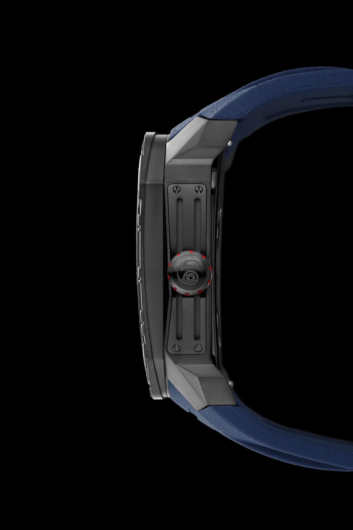 negatronic Laser Series Japanese Miyota Automatic Watch, Phantoms Watch Tourbillon, Sporty Mechanical Watch For Men