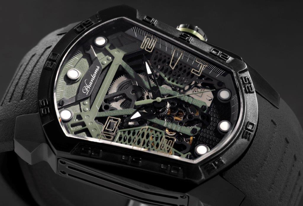 Camo Blade Automatic Mechanical Watch Futuristic Mens Watch Best Microbrand